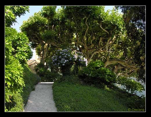 Jardin de villa italienne