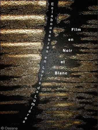 Eclaboussures en Lavis de lumières, Film en Noir et Blanc.